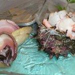 錦寿司 - さざえ、とり貝の刺身