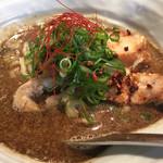 バサノバ - グリーンカレーラーメン。縮れ麺がまた面白かったです。