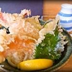玉藻うどん - 天ぷらぶっかけ小(800円)