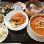 50603628 - 大橋特製限定ランチ、担々麺とエビチリ 1200円