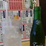 源七商店 - 角打ち流の瓶サワーからうめサワー380円