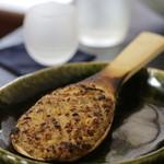 蕎麦・酒 青海波 - 焼きみそ 480 白みそ・クルミ・葱・ソバの実 甘味は少な目