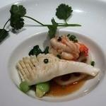 50609764 - 「5月野菜のバプール 海鮮2種のブランダード ナンプラーと共に」のアップ