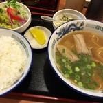 宝福ラーメン - モーニングセット(500円・9:00~10:30のみ)