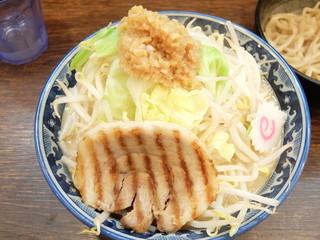 麺屋 武士道 本店 - ドカ盛野菜ラーメン+ヤサイお勧めニンニク増し