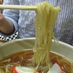 志乃ぶ - 麺は中加水、かん水抜けているがやや柔らかい