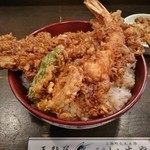 蔵前いせや - えび穴子丼(ご飯大盛)