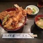 蔵前いせや - えび穴子丼 1,500円(ご飯大盛+100円)