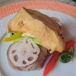 レストラン コンテッラ - お肉料理・ポークフィレ肉と野菜のマリアージュ