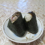 くげぬまライス - 十六穀米ふき味噌と四万十川のり佃煮と茎わさび