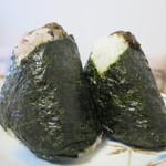 くげぬまライス - 十六穀米ふき味噌と四万十川のり佃煮と茎わさび横からアップ