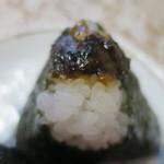 くげぬまライス - 四万十川のり佃煮と茎わさび上からアップ