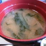 川京 - ワカメの味噌汁