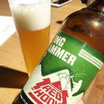 ネイバーフッドアンドコーヒー - 緑のビール (>_<)