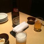 炭火 酒蔵 喜多 - 瓶ビール&お通し