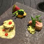Sky Restaurant 634 - 仔牛フィレ肉のロースト リゾーニ入りブランケット風ソースと白味噌マスタードディップ