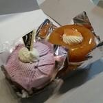 ベルボン - 料理写真:「サバラン (313円)」と「紫イモ モンブラン (367円)」