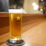 ル ピニョン - ビールはサッポロ黒ラベル