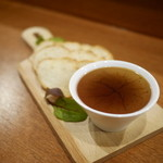 ル ピニョン - 鶏白レバーとフォアグラのムース
