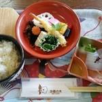 50630527 - 津和野郷土料理「うずめ飯」(1080円税込)※ご飯を混ぜると色んな食材が顔を出すも、撮影を失念しやした。