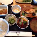 50630754 - 銀だらの西京焼とマグロの頬肉の竜田揚げ定食