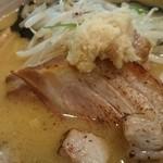 麺屋 おざわ - しょうが付きみそらーめん850円+チャーシュー150円トッピング