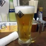 筑前屋 - 「生ビール」480円也。