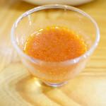 天ぷら新宿つな八 - トマトスープ