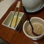 梅の花 太宰府別荘 自然庵 - お豆腐の薬味