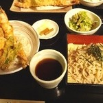 萱笑 - 大海老天丼御膳(1520円)