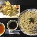 萱笑 - 大海老天ぷらそば(1440円)