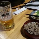 50639867 - 飲みかけ生ビール