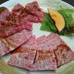 炭火焼肉 おおつか - 上Fカルビ肉&上ロース肉