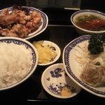 ミン民 - 唐揚げ定食 800円