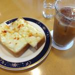 ハナ - チーズトーストとアイスコーヒーです