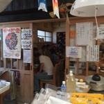 田中鮮魚店 - こちらが飲食店舗。ここ以外に、離れが1棟、市場通路側に屋外テーブル席(6,7人可能)が1か所ありました。