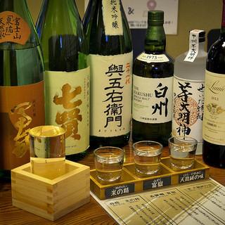 ちょっと珍しい山梨県産焼酎や地酒