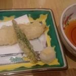 ホテルニュータガワ 日本料理 雫 - 穴子天ぷら