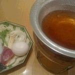 ホテルニュータガワ 日本料理 雫 - 最初に出てきた鍋