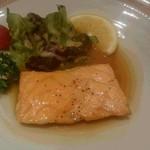 ホテルニュータガワ 日本料理 雫 - 鮭のムニエル
