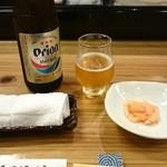 黒門徳乃介 - とりあえずの オリオンビール