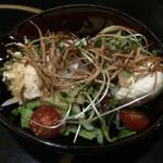 今日しかない - 揚げ牛蒡とすくい豆腐のサラダ