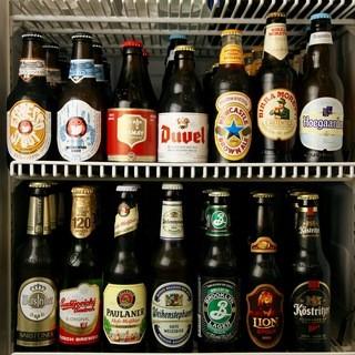 豊富なビール!『ボトルビール全24種。ドラフトビール全2種』
