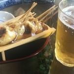 50662244 - 両棒(ぢゃんぼ)もち&ビール
