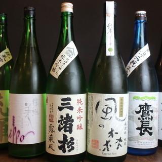 50種類近くの日本酒をご用意。