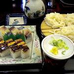 鮨と麺 うまい門 - バッテラセット@830円です