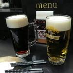 Lunch&Beer SUN  - ハーフアンドハーフ(アサヒ)とキリン生