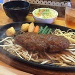 ハンバーグむとう - 料理写真:ランチハンバーグ900円 ご飯・みそ汁・サラダ付き