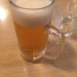 一喜屋 - グラスは冷えていません…。