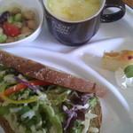 カフェ アンジー - ランチC15穀ブレッドサンドのセット